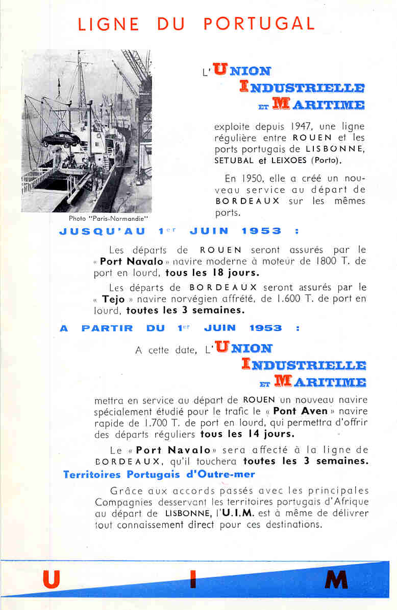 Union Industrielle et Maritime, ses filiales, ses navires edf4f341bab0
